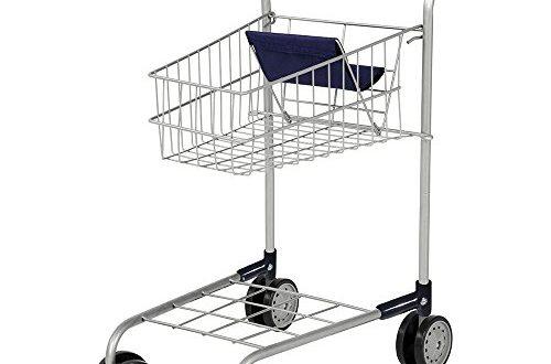 41G5tT1+NgL 500x330 - Bayer Design 7500000 - Einkaufswagen ohne Inhalt, Silber